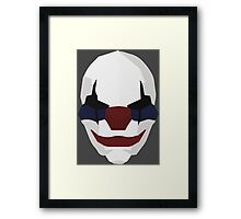 Chains -  Payday Retro Mask Framed Print