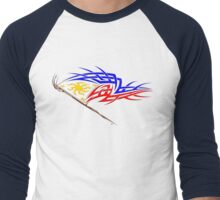 Philippine Tribal Flag Men's Baseball ¾ T-Shirt