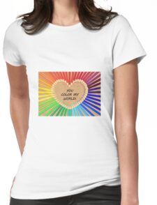 Colouring Pencil Heart Womens Fitted T-Shirt