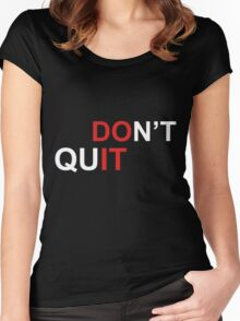 do it  Women's Fitted Scoop T-Shirt