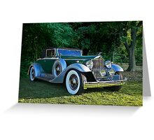 1933 Packard 1006 Convertible 2 Greeting Card