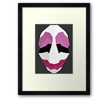Jim Hoxworth - Payday Retro Mask Framed Print