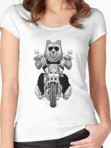 carefree bear Women's Fitted Scoop T-Shirt