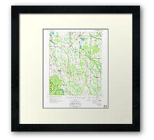 USGS TOPO Map Arkansas AR Holly Grove 260098 1974 62500 Framed Print