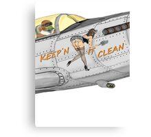 Aircraft nose art Keep'n it clean Canvas Print