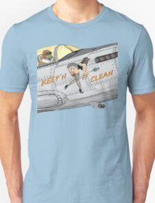 Aircraft nose art Keep'n it clean Unisex T-Shirt