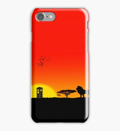 Tardis Sunset iPhone Case/Skin