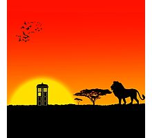 Tardis Sunset Photographic Print