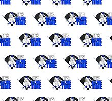 It's Game Time - Baseball (Blue) Pattern 1 by Adamzworld