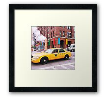 Taxi Smoke Framed Print