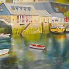 Mevagissey harbour - Cornwall by Beatrice Cloake Pasquier