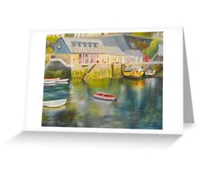 Mevagissey harbour - Cornwall Greeting Card