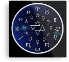 Zodiac Night Sky Metal Print