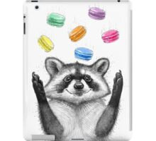 raccoon and cookies iPad Case/Skin