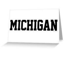 Michigan Jersey Black Greeting Card