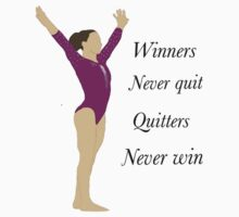 Winners never quit, quitters never win! Kids Tee