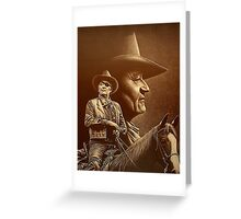 """John Wayne"" [The Duke] Ed Gedrose Greeting Card"