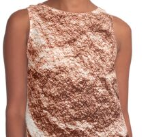 Draped rose gold Contrast Tank