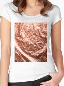 Draped rose gold Women's Fitted Scoop T-Shirt