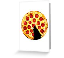 Pizza is Life for a Lone Wolf Greeting Card