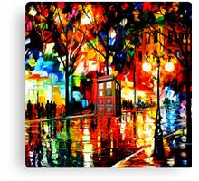 tardis starry night enchanting Canvas Print