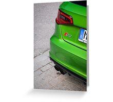 Java Green S3 Greeting Card
