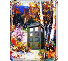 tardis in the forest art iPad Case/Skin