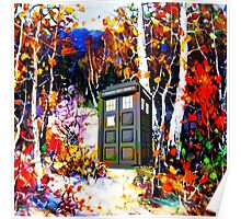 tardis in the forest art Poster
