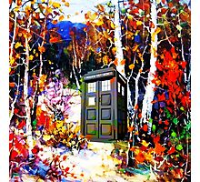 tardis in the forest art Photographic Print