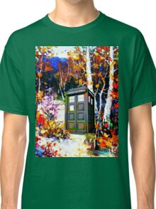 tardis in the forest art Classic T-Shirt