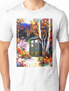 tardis in the forest art Unisex T-Shirt