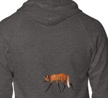 Maned wolf, small Zipped Hoodie