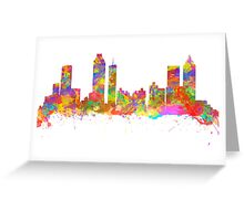 Watercolor art print of the skyline of Atlanta Georgia USA Greeting Card