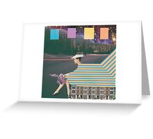 woman by road Greeting Card