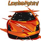 Lamborghini car abstract by Mark Malinowski
