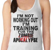 Training For The Zombie Apocalypse (dark text) Women's Tank Top