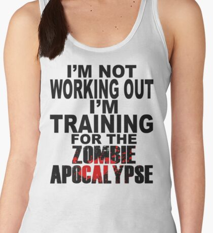 Training For The Zombie Apocalypse (dark text) Women's Tank Top