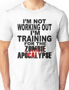 Training For The Zombie Apocalypse (dark text) Unisex T-Shirt