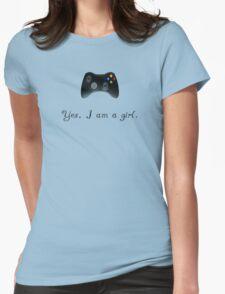 Yes, I am a Girl- (black text) T-Shirt