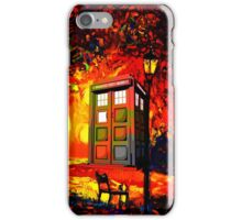 tardis  oranye iPhone Case/Skin