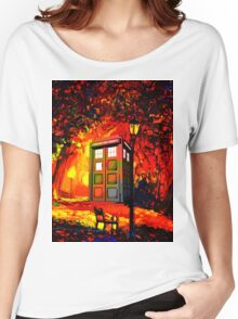 tardis  oranye Women's Relaxed Fit T-Shirt