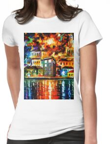 TARDIS CITY Womens Fitted T-Shirt