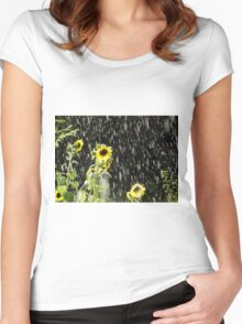 Sunshine in the Rain Women's Fitted Scoop T-Shirt
