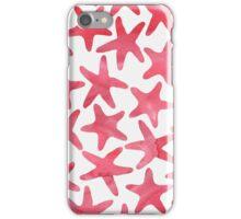 Modernes Muster mit roten Seesternen iPhone Case/Skin