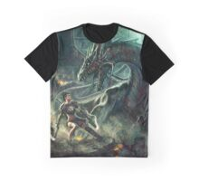 Face a Dragon by Charro Graphic T-Shirt