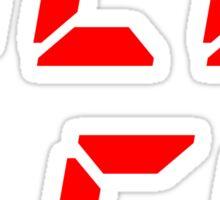 RED LED retro techno Sticker
