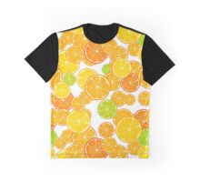 Pattern with citrus on a white background. Graphic T-Shirt