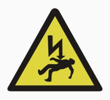 Danger of electric shock Symbol. by sweetsixty