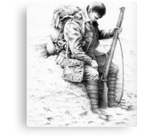 WW1 British Soldier 'Weary Tommy' Canvas Print