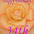 Happy 34th Birthday Flower by martinspixs